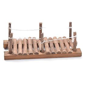 Passerella in legno presepe 5x15x7 cm s1