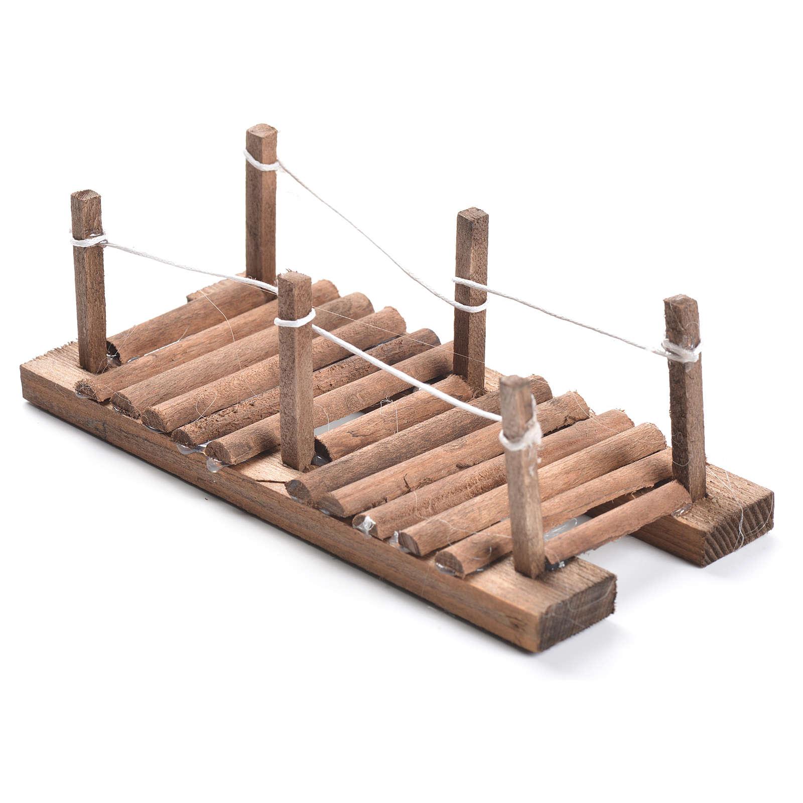 Nativity setting, footbridge in wood measuring 5x15x7cm 4