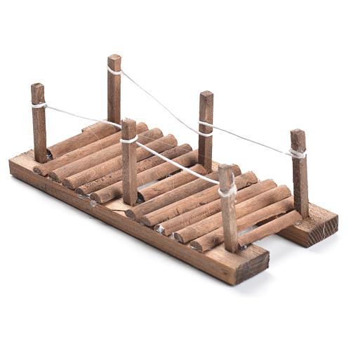 Nativity setting, footbridge in wood measuring 5x15x7cm 2