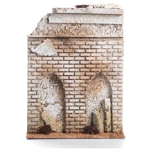 Mur liège avec fausse porte crèche 27x21x5cm 1