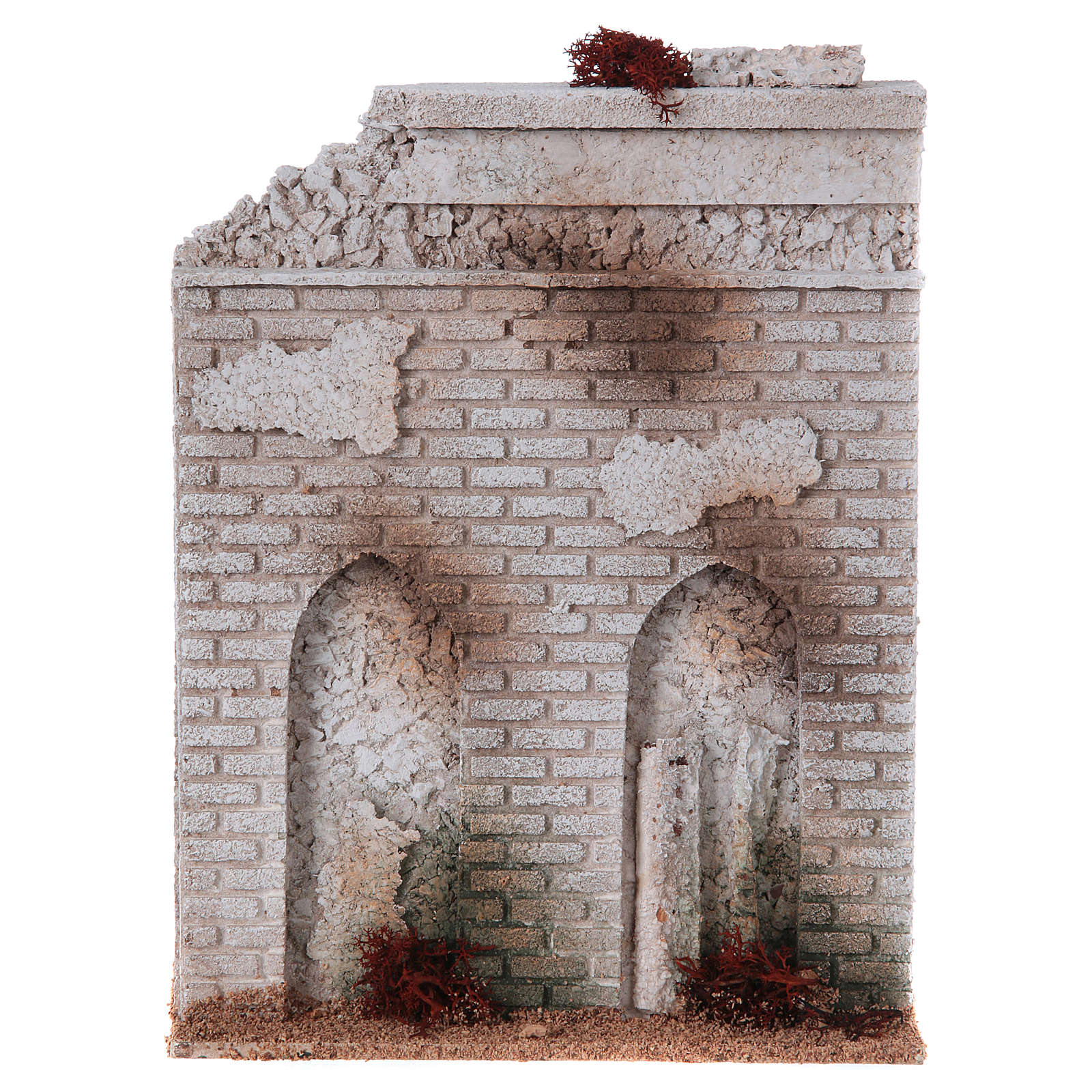 Muro sughero con finta porta presepe 27x21x5 4