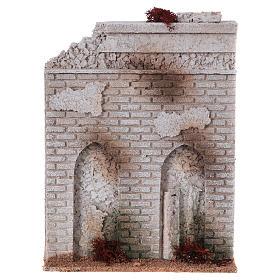 Muro sughero con finta porta presepe 27x21x5 s1