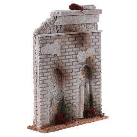 Muro sughero con finta porta presepe 27x21x5 s3