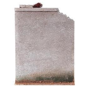 Muro sughero con finta porta presepe 27x21x5 s4