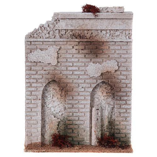 Muro sughero con finta porta presepe 27x21x5 1