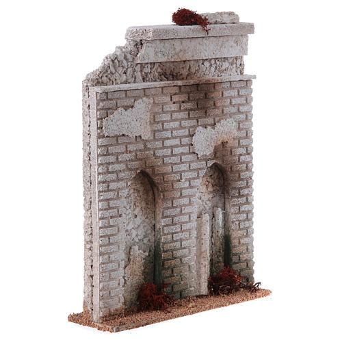 Muro sughero con finta porta presepe 27x21x5 3
