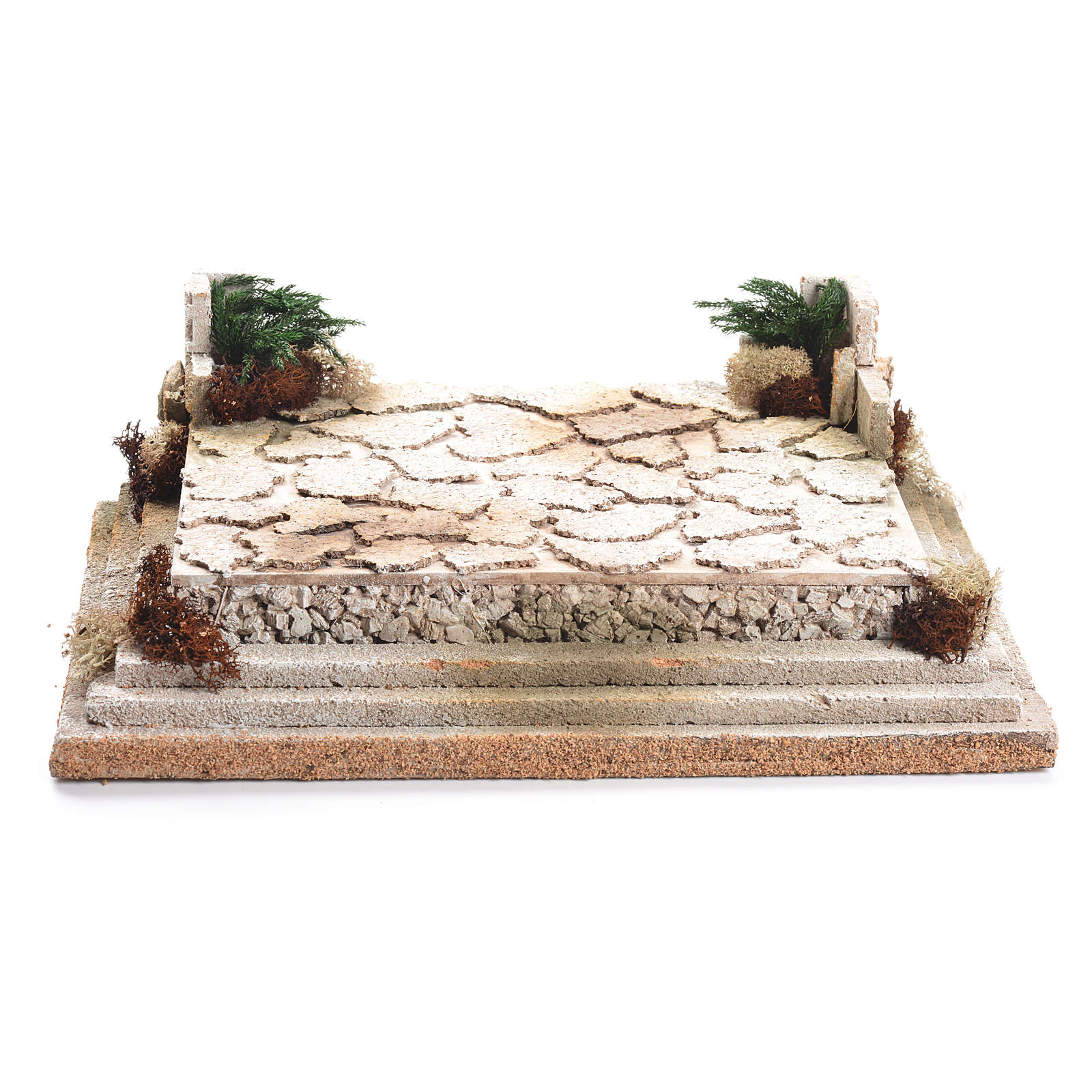 Plaza para belén de corcho 12x35x26 cm 4