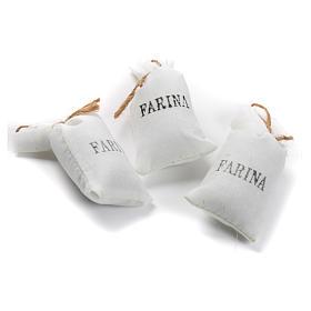 Sacchi di farina 3 pz in stoffa per presepe s1