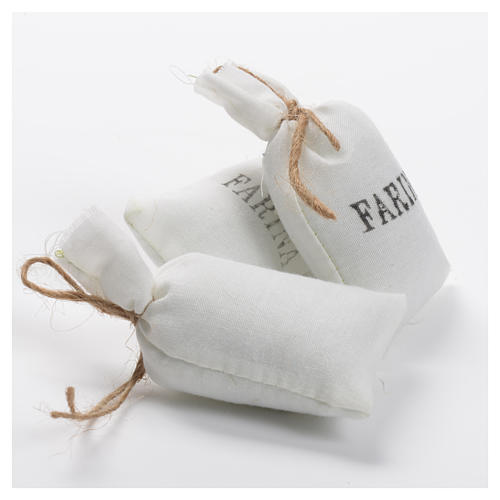 Sacchi di farina 3 pz in stoffa per presepe 2