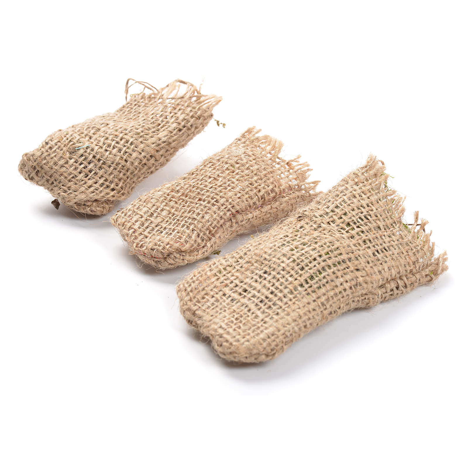 Jute sacks 3 pcs. nativity accessories 4