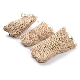 Jute sacks 3 pcs. nativity accessories s2