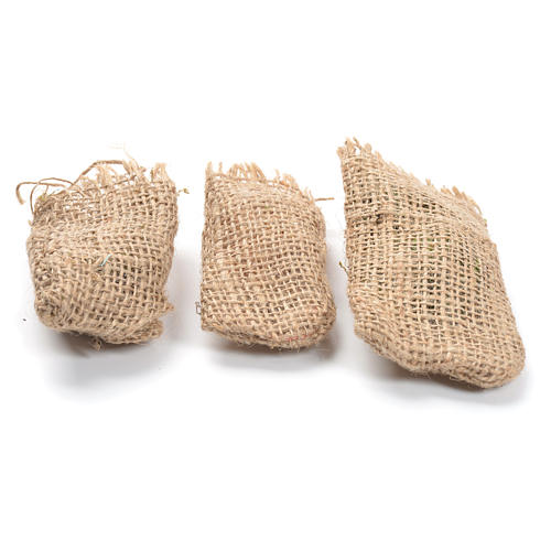 Jute sacks 3 pcs. nativity accessories 1