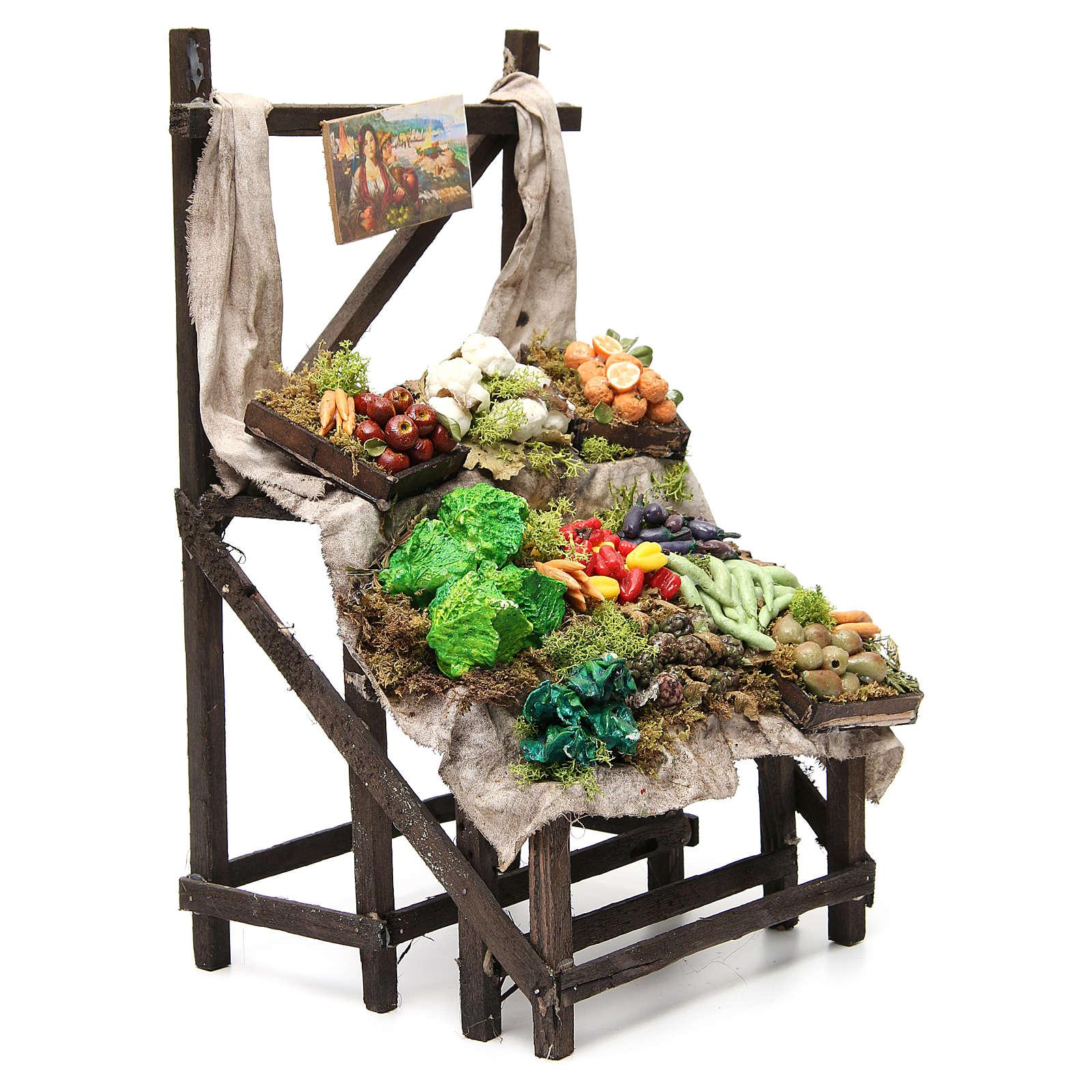 Puesto de mercado de frutero en cera 40x23x21 cm 4