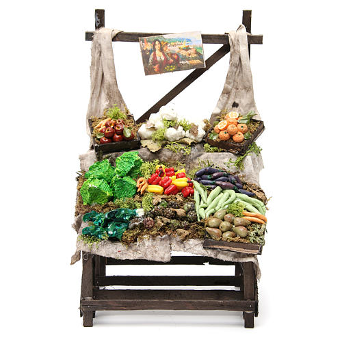 Puesto de mercado de frutero en cera 40x23x21 cm 1