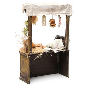 Nativity baker's stall in wax, 40x25x10.5cm s3