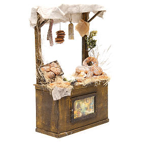 Nativity baker's stall in wax, 40x25x10.5cm s4