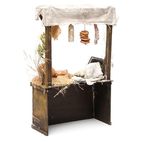 Nativity baker's stall in wax, 40x25x10.5cm 3