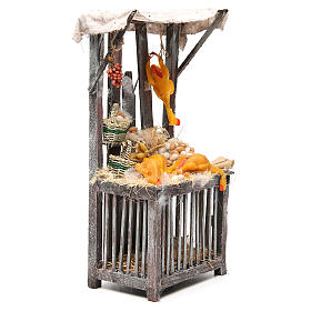 Nativity poultry seller stall in wax, 40x18x12cm s4