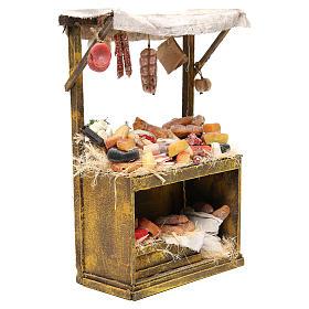 Käse- und Wurstwaren-Verkaufsstand aus Wachs 40x25x12,5 cm für DIY-Krippe s4