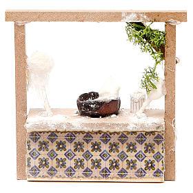 Comida em Miniatura para Presépio: Banca presépio algodão-doce 10,5x11x4 cm