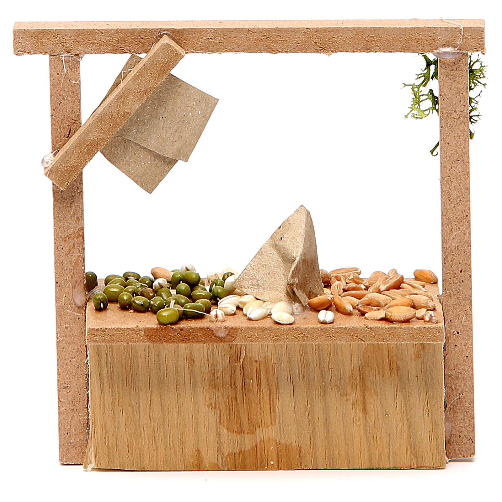 Banchetto presepe cereali olive  10,5x11x4 cm 4