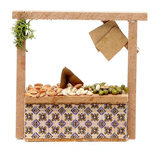 Banchetto presepe cereali olive  10,5x11x4 cm 1