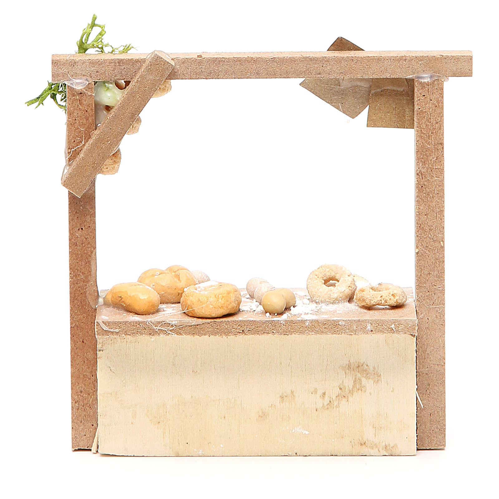 Banchetto presepe pane e dolci  10,5x11x4 cm 4
