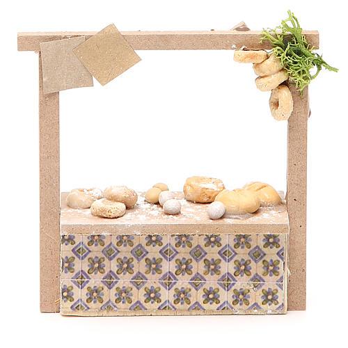Banchetto presepe pane e dolci  10,5x11x4 cm 1