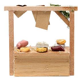 Banchetto presepe formaggi e salumi 10,5x11x4 cm s2