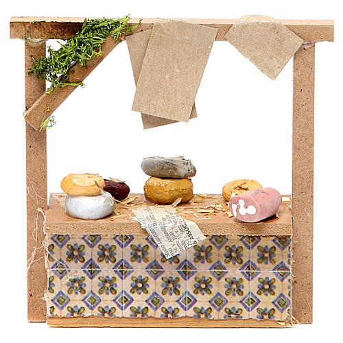 Banchetto presepe formaggi e salumi 10,5x11x4 cm 1