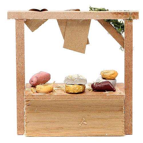 Banchetto presepe formaggi e salumi 10,5x11x4 cm 2