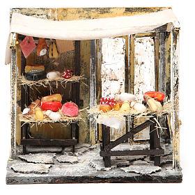 Comida em Miniatura para Presépio: Loja charcutaria em cera presépio 18x20x14 cm