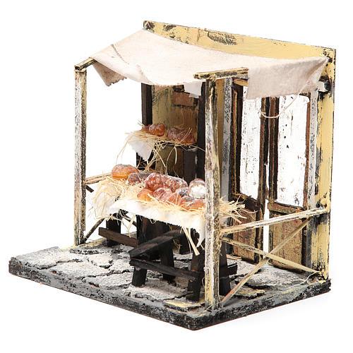Magasin boulanger en cire crèche 18x20x14 cm 2