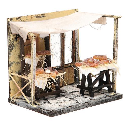 Magasin boulanger en cire crèche 18x20x14 cm 3