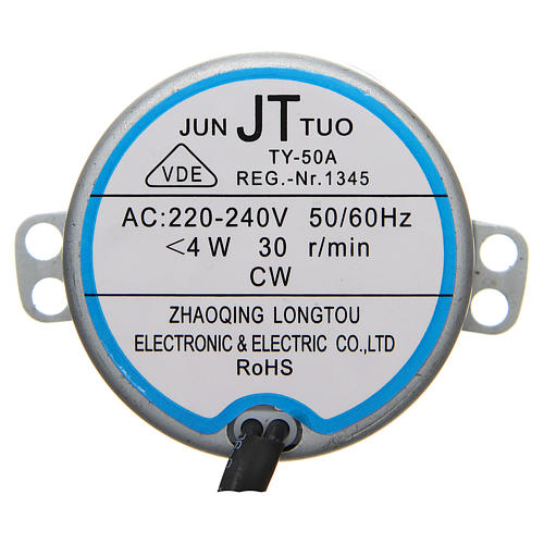 Motoriduttore presepe movimenti 4 watt 30 giri/min 1