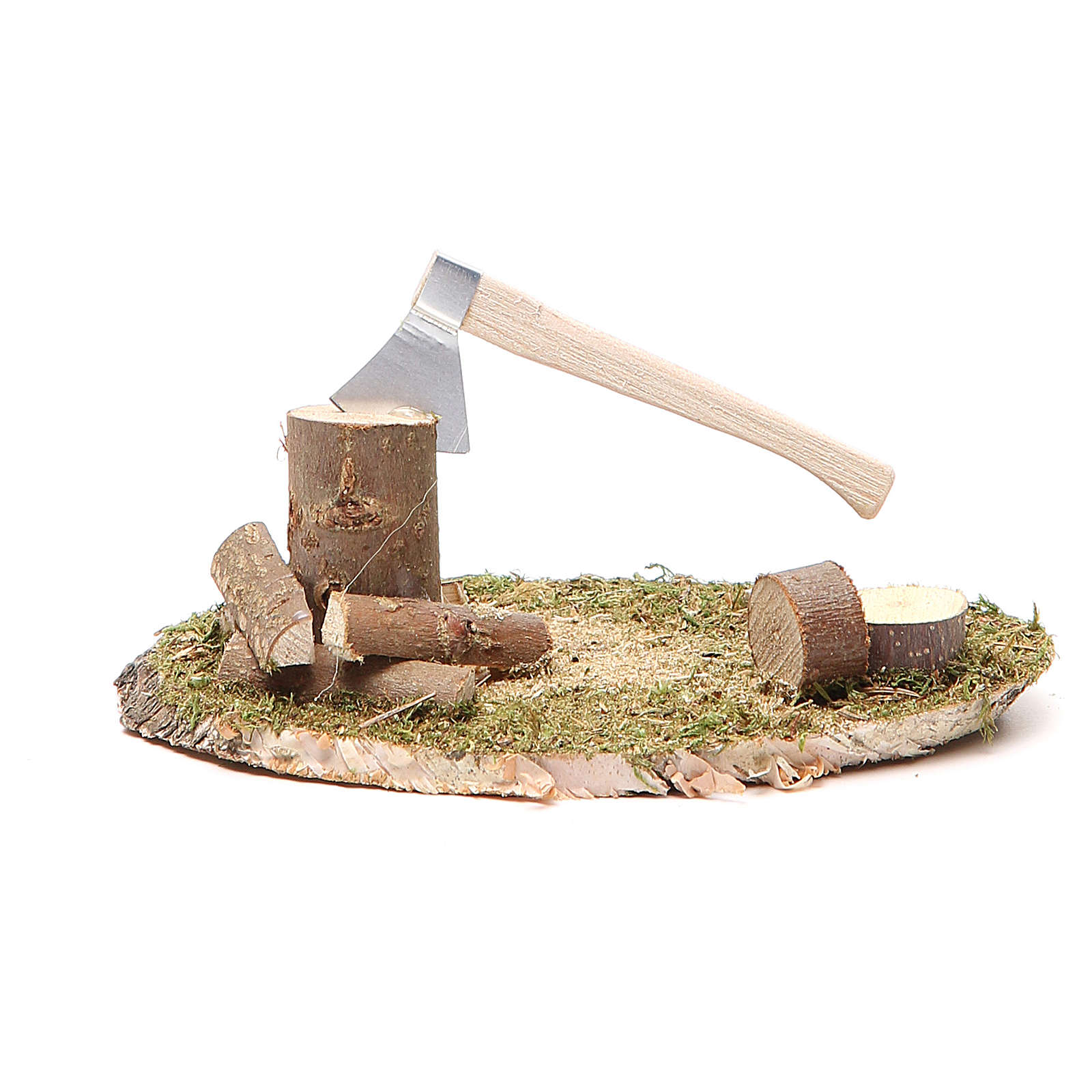 Nativity setting for 10-12cm, hatchet 12x8cm 4