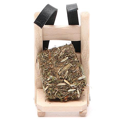 Porte-paille en bois pour crèche 8x5x8 cm 1