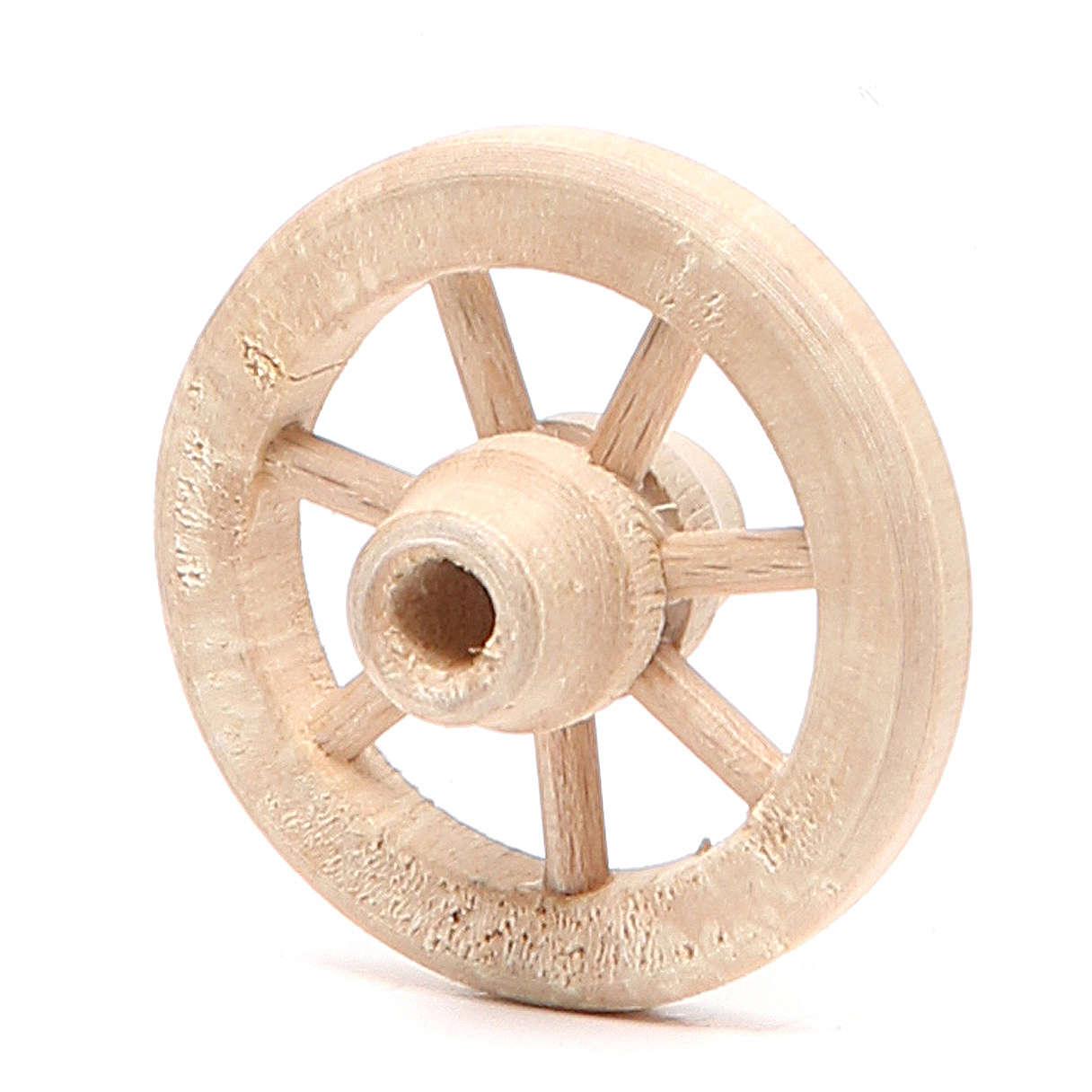 Roue en bois diamètre 4,5 cm 4