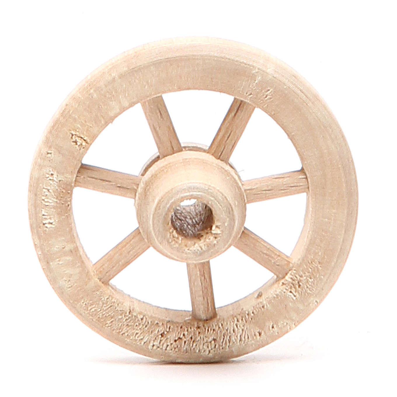 Ruota in legno diametro 4,5 cm 4