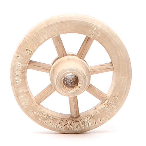Ruota in legno diametro 4,5 cm 1