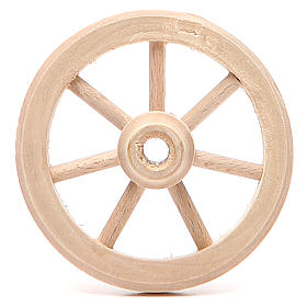 Wheel in wood diameter 6,5cm s1