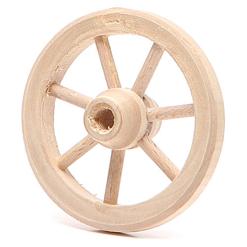 Wheel in wood diameter 6,5cm 2