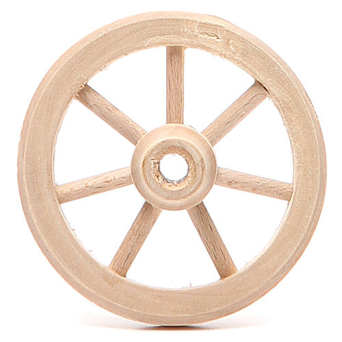 Rueda de madera diámetro 6,5 cm 1