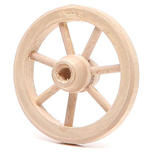 Rueda de madera diámetro 6,5 cm 2