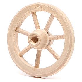 Ruota in legno diametro 6,5 cm s2