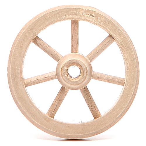 Ruota in legno diametro 6,5 cm 1