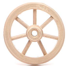 Ferramentas de Trabalho para Presépio: Roda de madeira diâmetro 6,5 cm