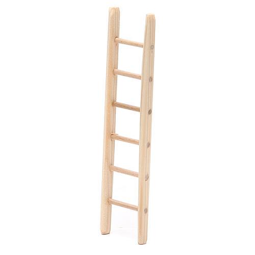 Step ladder in wood h. 14x3,5cm 2