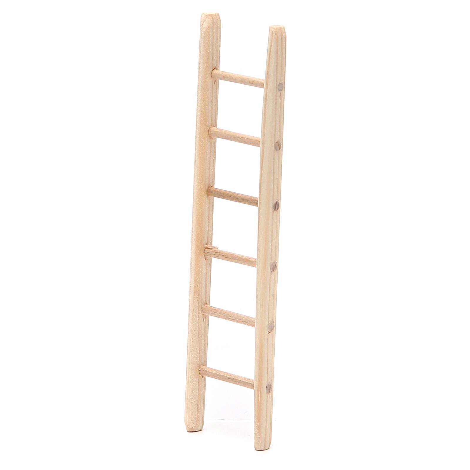Step ladder in wood h. 14x3,5cm 4