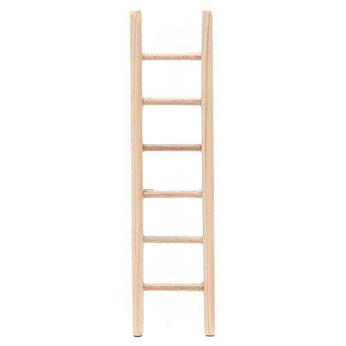 Step ladder in wood h. 14x3,5cm 1